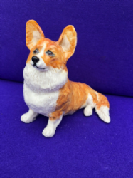 Eve Pearce Hand-Made Model - Corgi Sitting